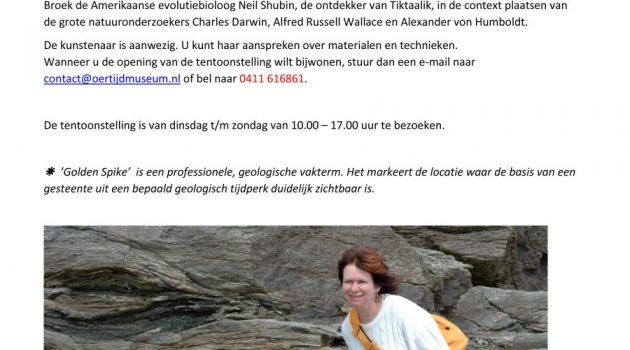 18 november opening in Oertijdmuseum