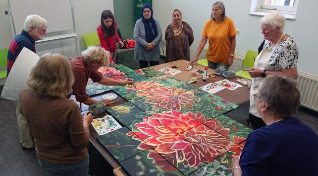 Adults paint for Residents House Anderlecht